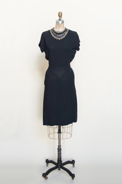 Vintage 1940's dress from Dalena's Attic.