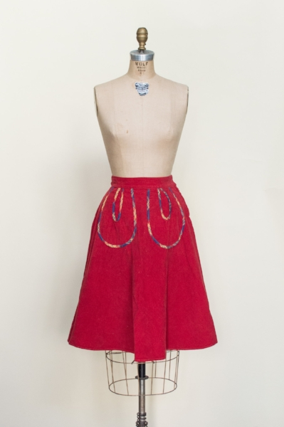 Vintage 1940's skirt from Dalena's Attic.