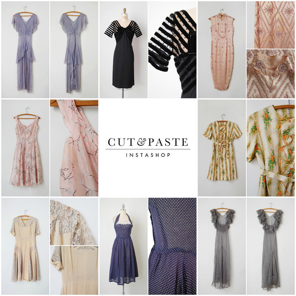 Vintage Instagram shop, Cut & Paste Instashop.