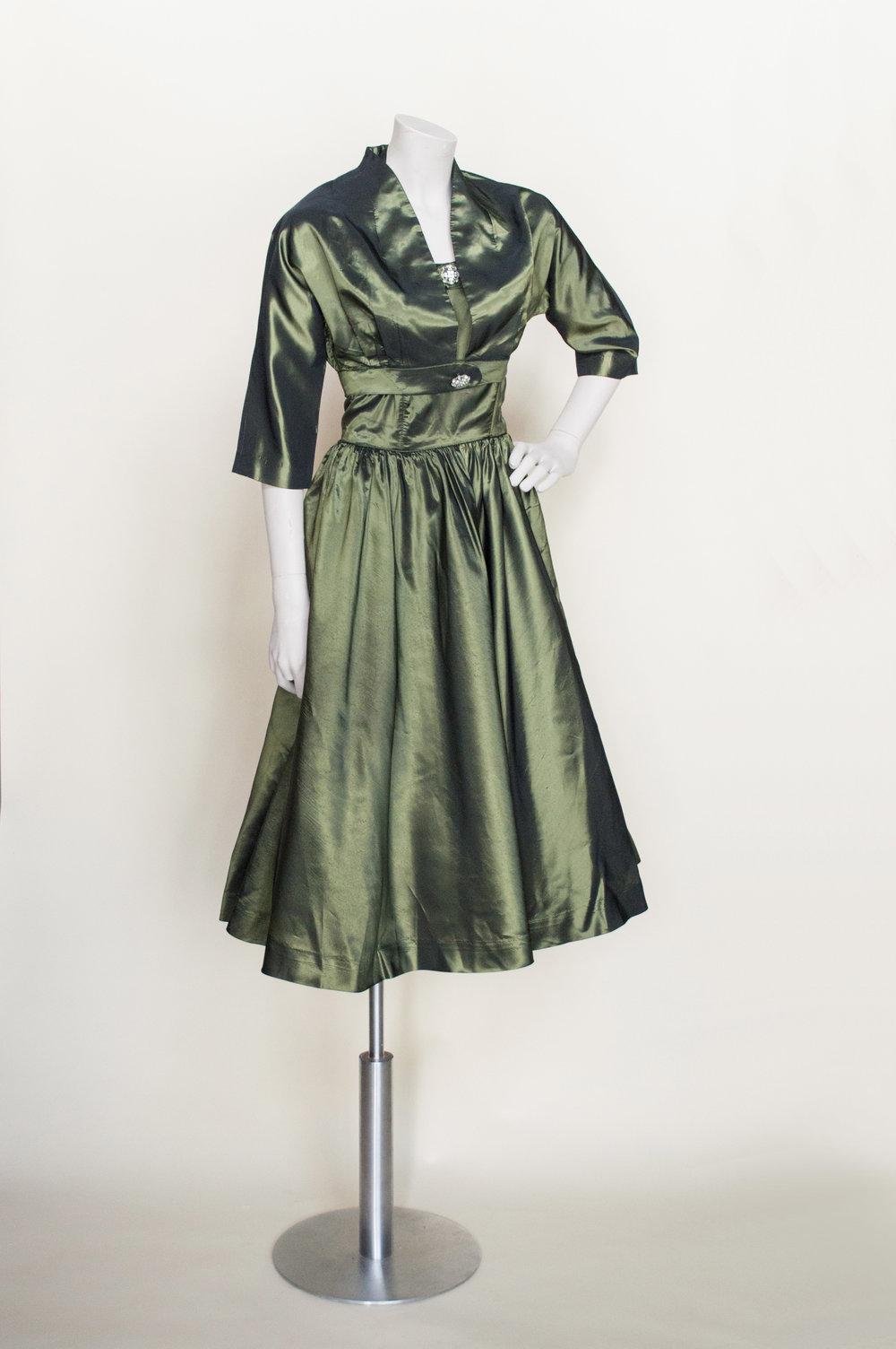 Fern Hunter Dress, a 1940s vintage party dress from online vintage clothing shop, Dalena Vintage.