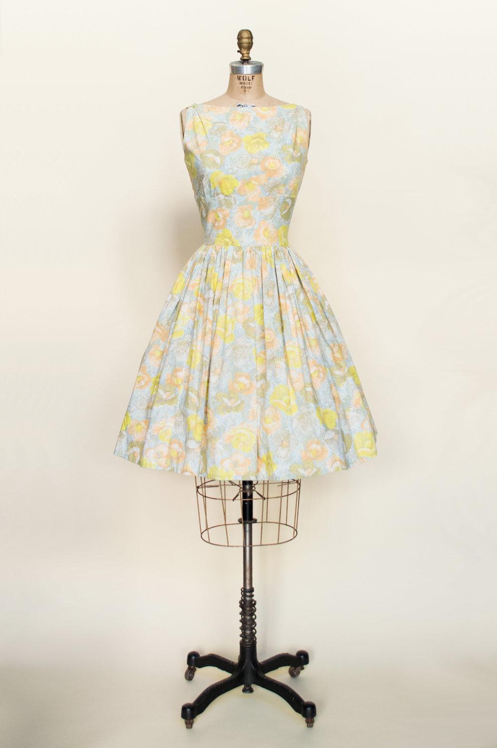 Vintage 1950's day dress from vintage clothing shop, Dalena Vintage.