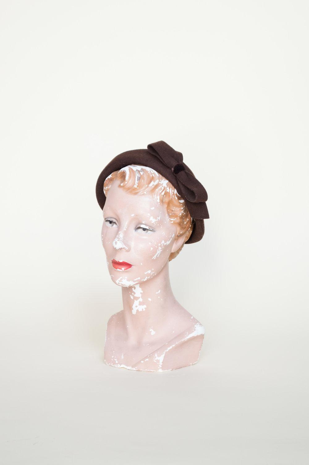 Vintage hat from vintage clothing shop, Dalena Vintage.