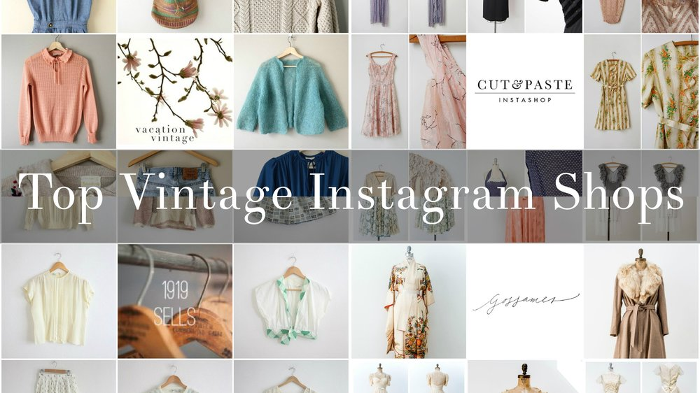 Top 5 Vintage Instagram shops to follow for vintage fashion