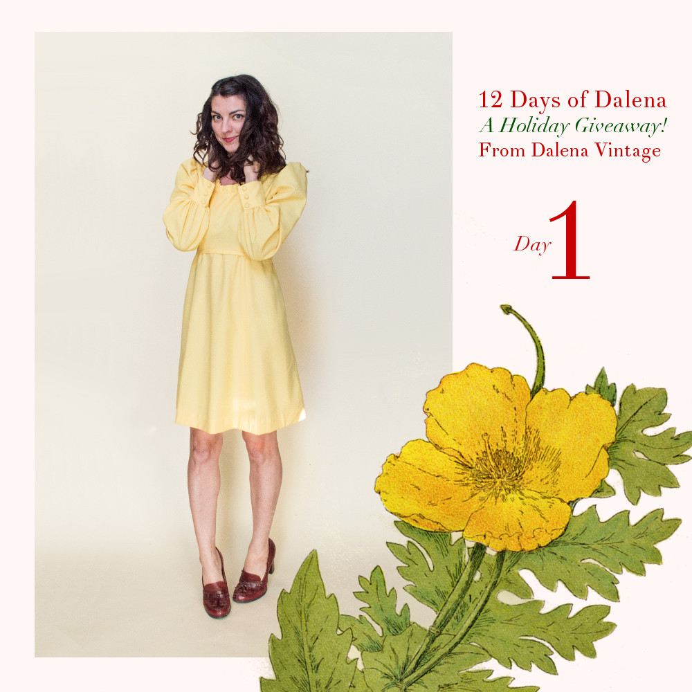 12 Days of Dalena, a holiday advent giveaway from Dalena Vintage!