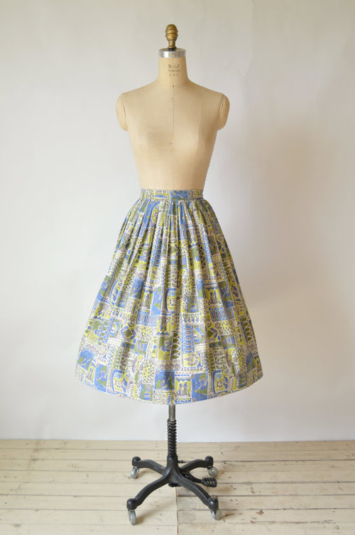 1950s vintage cotton skirt from Dalena Vintage