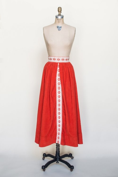 1960s vintage maxi skirt from Dalena Vintage