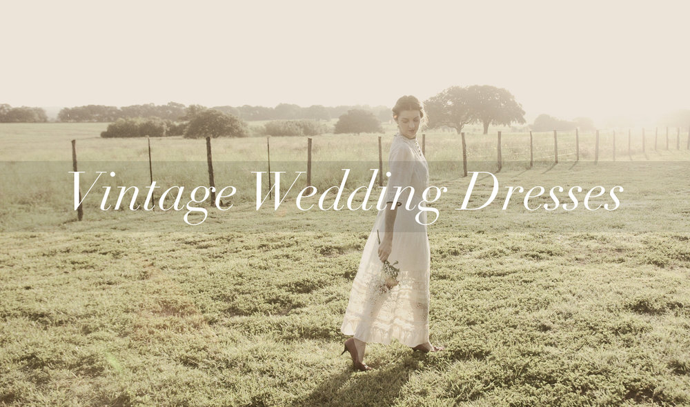 Shop vintage wedding dresses from Dalena Vintage, an online vintage clothing shop based in Austin, Texas.