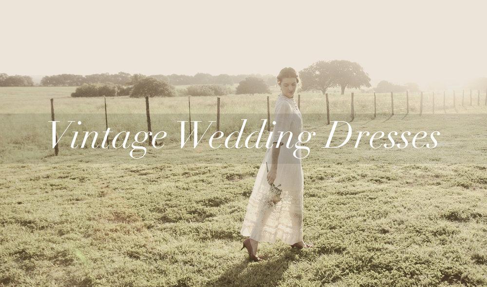 Shop vintage wedding dresses from Dalena Vintage, an online vintage clothing shop based in Austin, Texas.