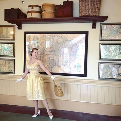 A gal at Disney Land in Dalena Vintage! We love seeing the adventures our vintage goes on after it leaves our shop in Austin, Texas.