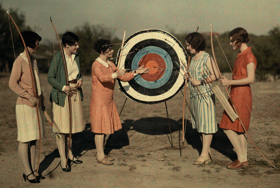 As a UT alum, I love this image. Archery class at the University of Texas in Austin, Texas, March 1928. PHOTOGRAPH BY CLIFTON R. ADAMS, NATIONAL GEOGRAPHIC