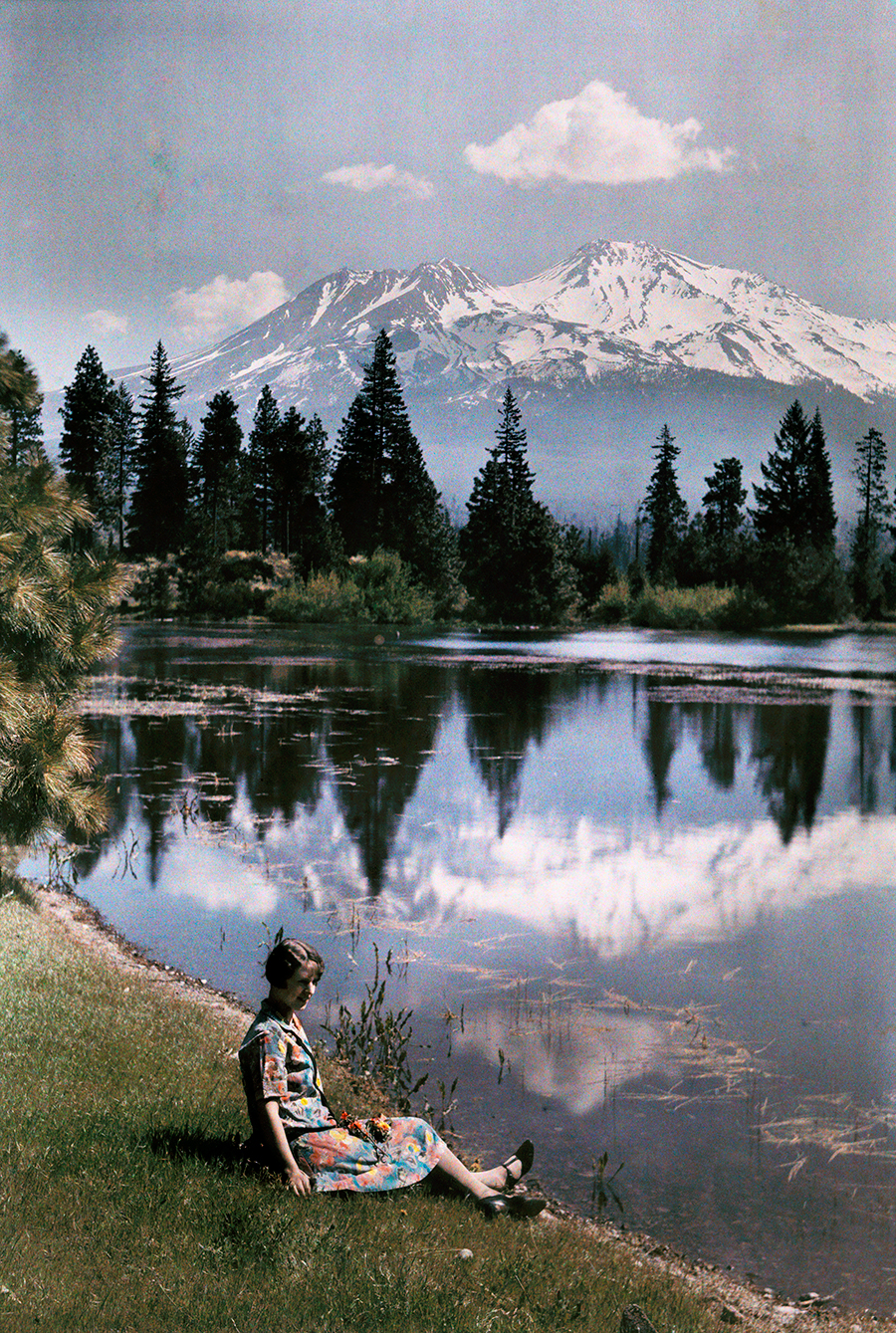 A vintage landscape reminiscent of the Sound of Music. Don't let the snow-capped mountains fool you, this was taken in the United States! California, 1929. PHOTOGRAPH BY CHARLES MARTIN, NATIONAL GEOGRAPHIC CREATIVE