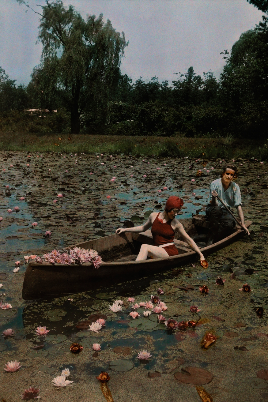 Dreamy! A couple paddle on a lily pond in the Kenilworth Aquatic Gardens in Washington D.C., 1923. PHOTOGRAPH BY CHARLES MARTIN, NATIONAL GEOGRAPHIC