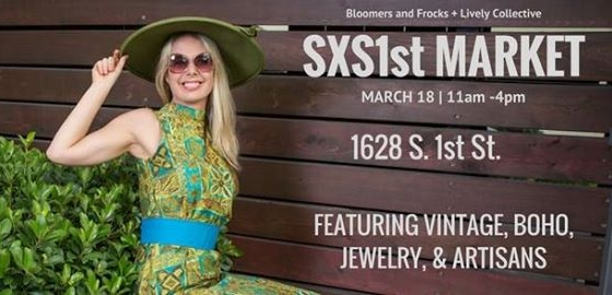 In Austin for SXSW? We'll be popping up in front of Bloomers and Frocks on Saturday March 18th from 11AM-4PM. Come by and say hello!