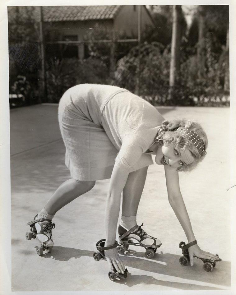 Vintage roller skate loving gal