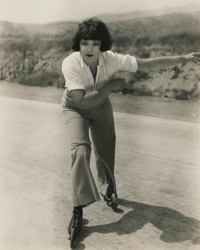 Marie Prevost on roller skates