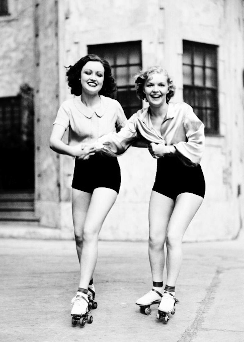 Vintage rollerskating gals