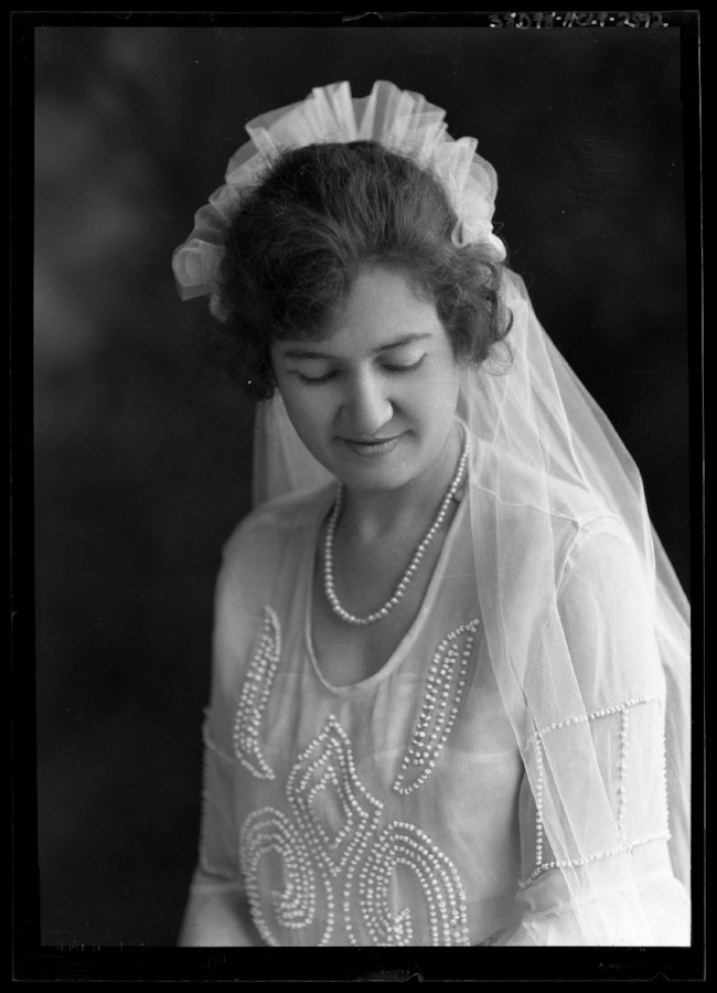 Vintage portrait of a Texan bride taken by Julius Born.