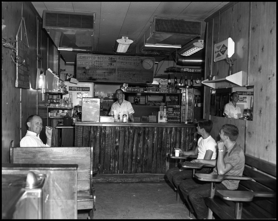 Ever wonder what things looked like in old Austin? Here's a glimpse inside The Hickory House in September of 1957.