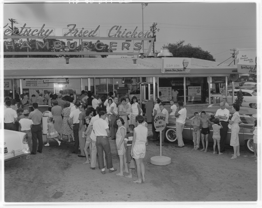 The first Kentucky Fried Chicken stand in Austin taken on August 10, 1960. Not sure where this was located. Anybody out there know?
