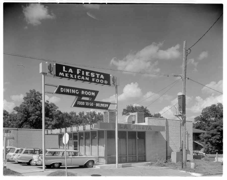 La Fiesta Mexican Food Dining Room in Austin, Texas, 1962.