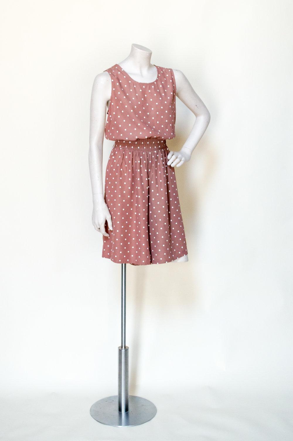 1980s polka dot romper from Dalena Vintage