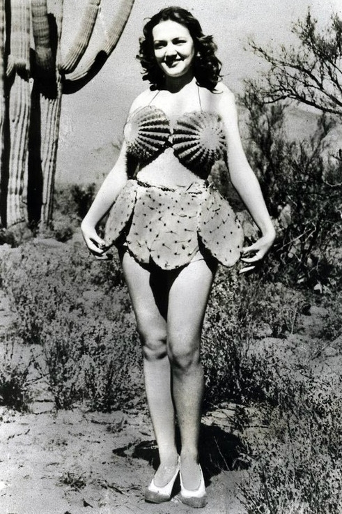 Looking for a vintage-inspired Halloween costume idea? Maybe try this cactus bikini!