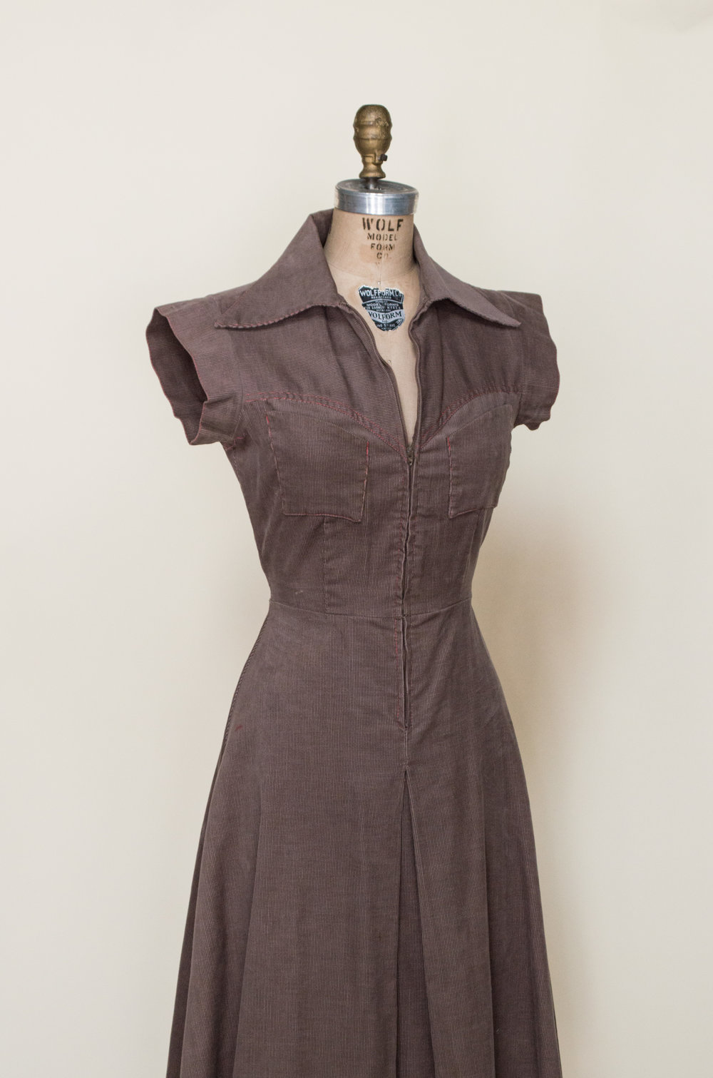 1970s corduroy dress from Dalena Vintage