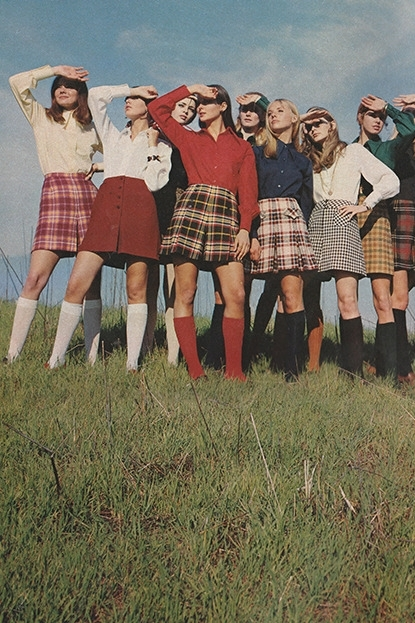 1970s plaid skirts