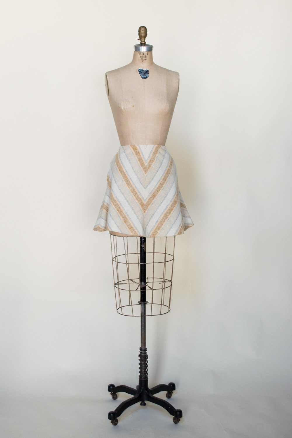 1970s chevron mini skirt from Dalena Vintage