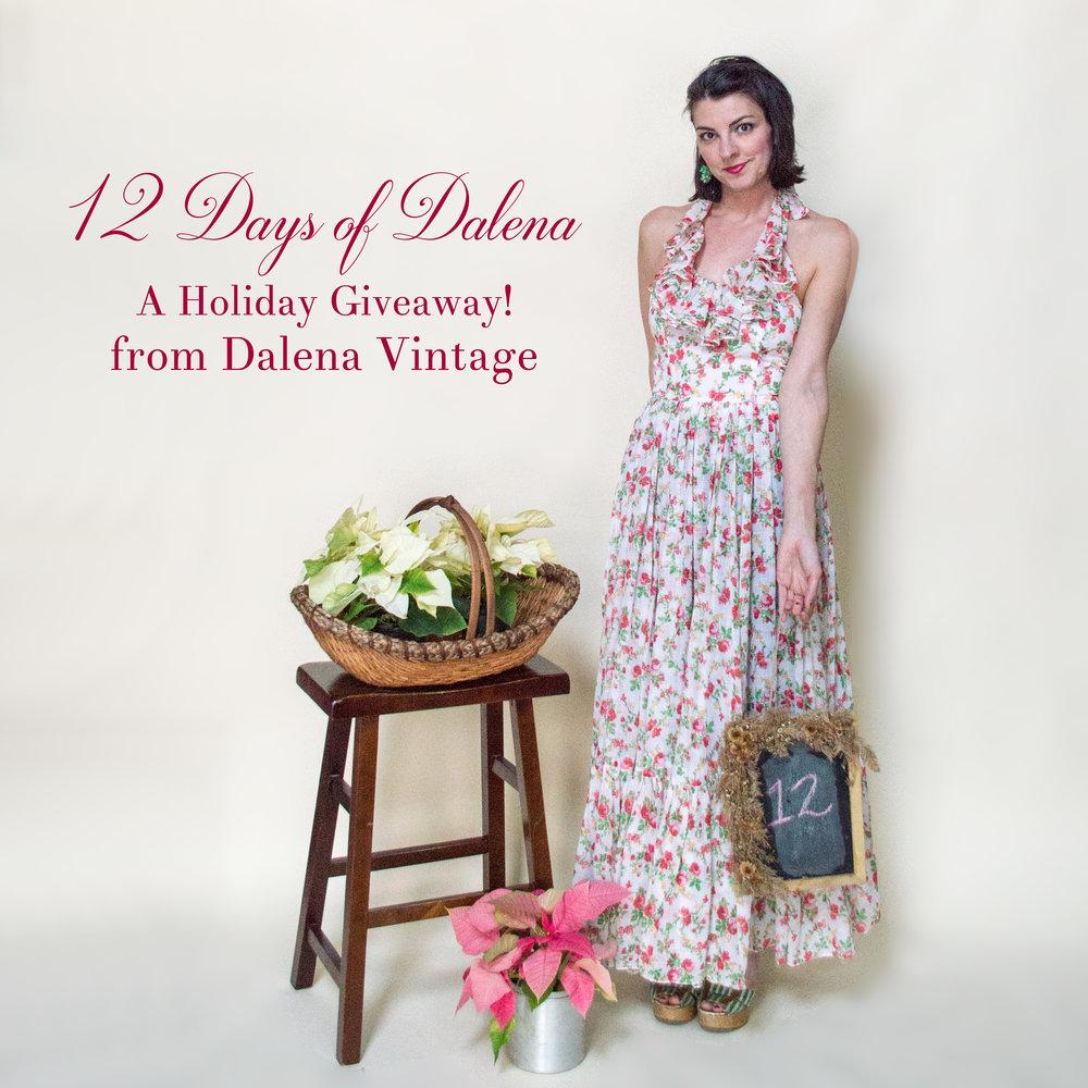 12 Days of Dalena, a holiday advent giveaway from Dalena Vintage