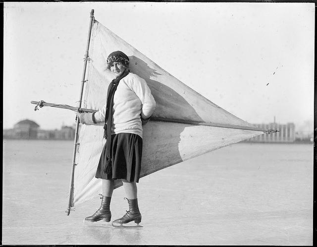 Ice sailing?