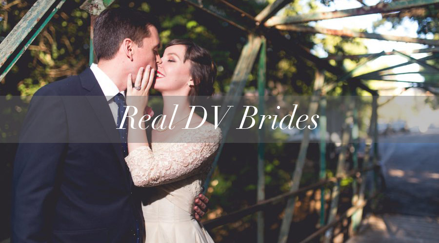 Real Brides in Vintage Dresses