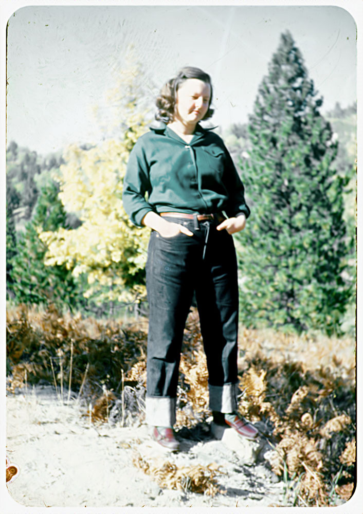 Vintage Camping Photos /// Not exactly sure when this photo was taken but my guess is late 1940s/early 1950s. Such a cute vintage hiking outfit though!