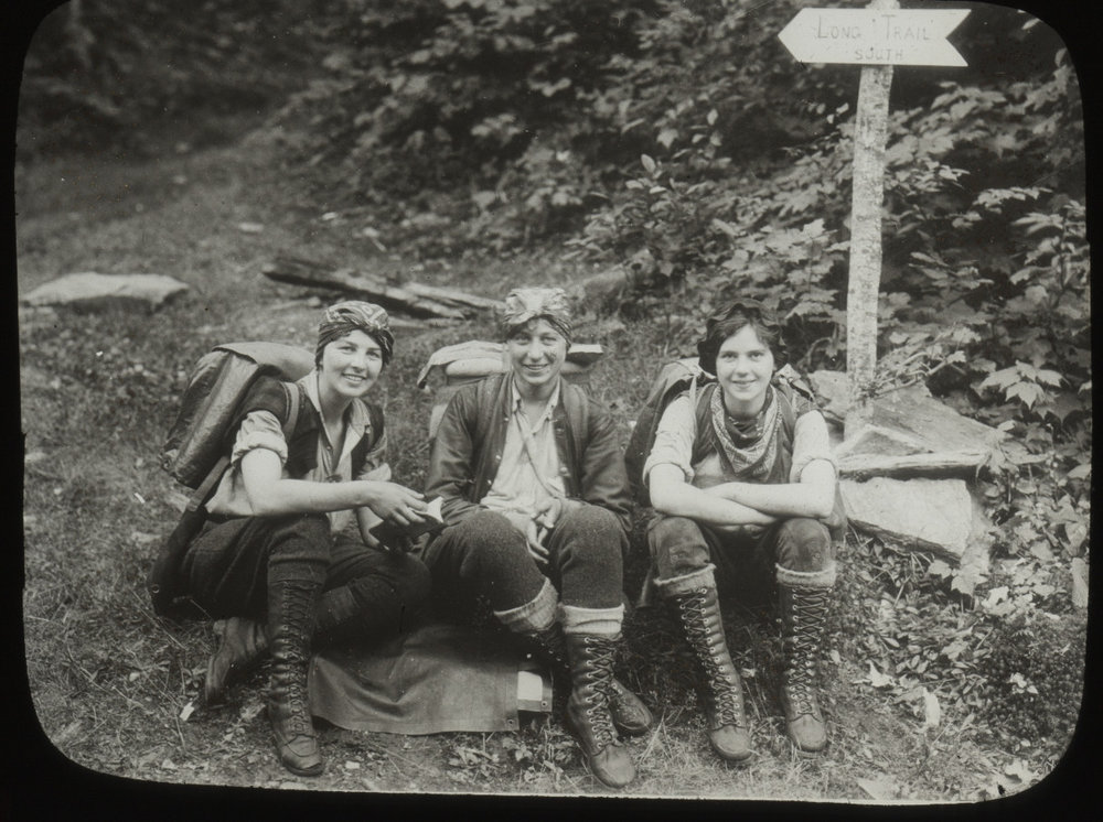 Vintage Camping Photos /// Women hiking in the 1920s. I find vintage photos of women camping so inspirational!