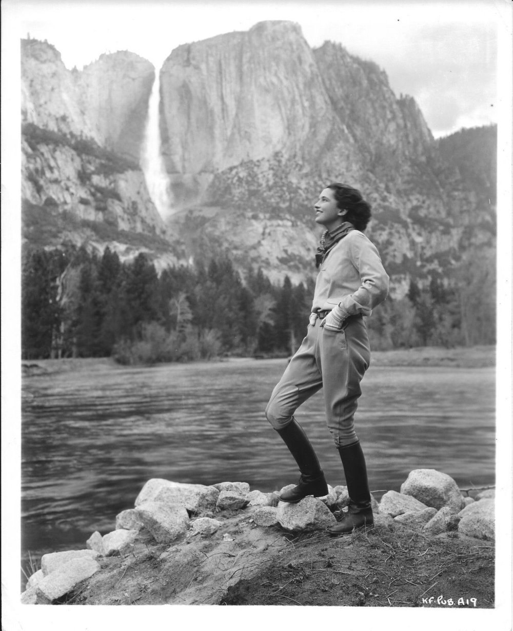 Vintage Camping Photos /// Vintage photo of a woman taking in the view, I'm guessing on a hike or camping trip.