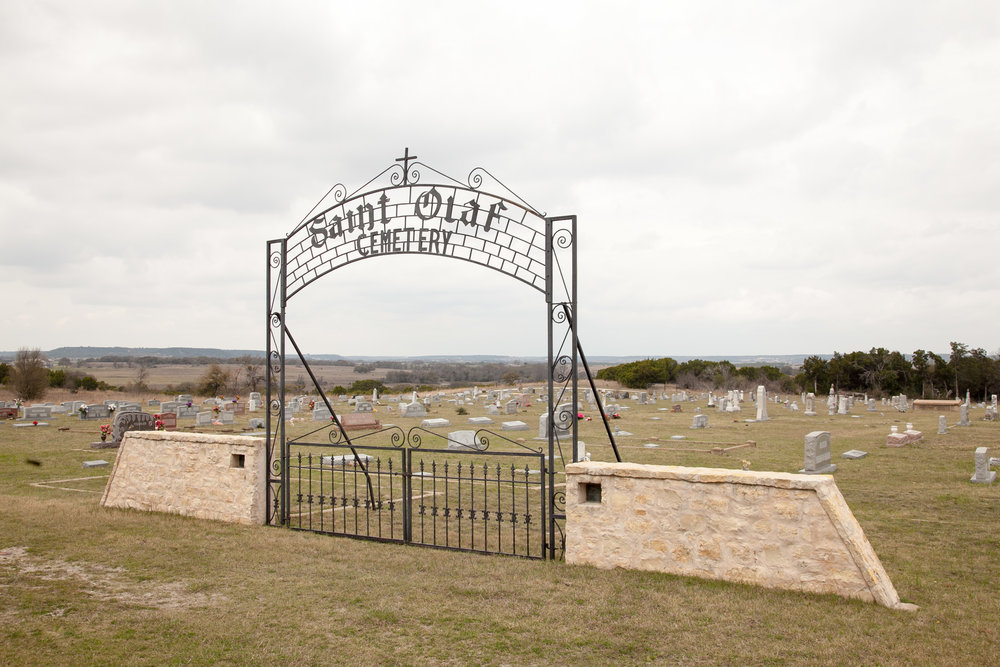 Saint Olaf Cemetery at the Rock Church in Cranfills Gap, Texas