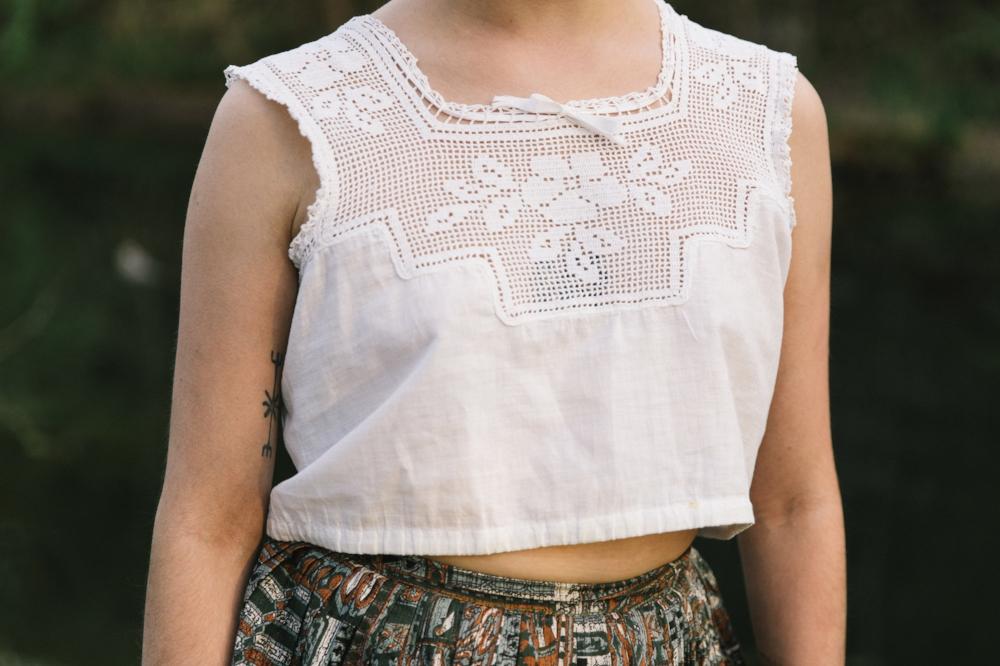 Edwardian blouse from Dalena Vintage.Photo by Nicole Mlakar.