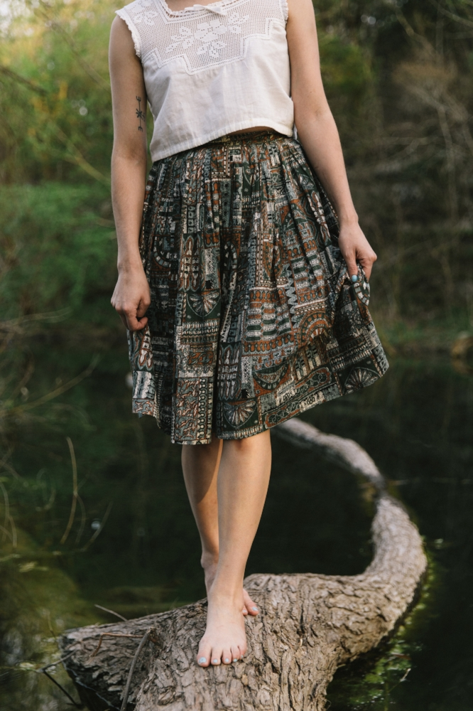 1950s skirt from Dalena Vintage. Photo by Nicole Mlakar.