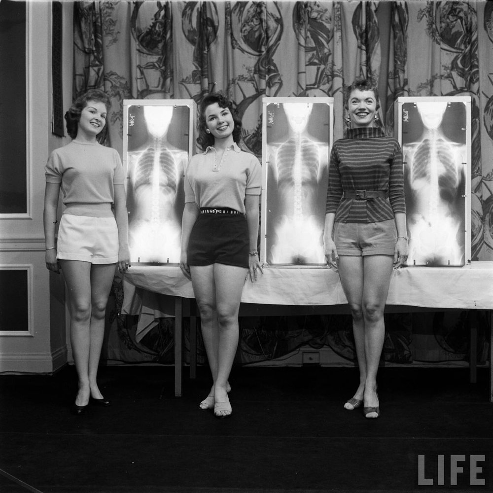 Winners of the Miss Correct Posture contest. Chicago, May 1956