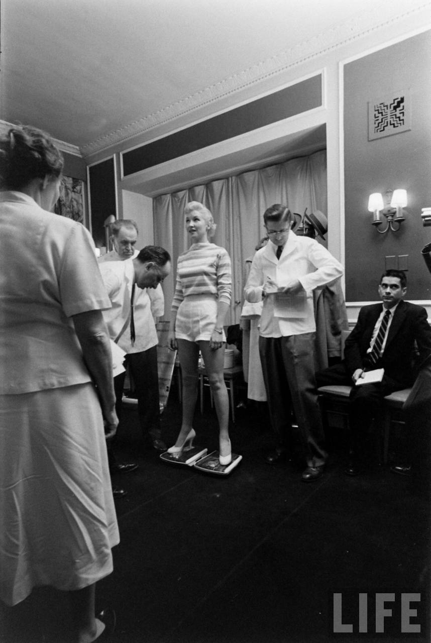 The Miss Correct Posture contest. Chicago, 1956.