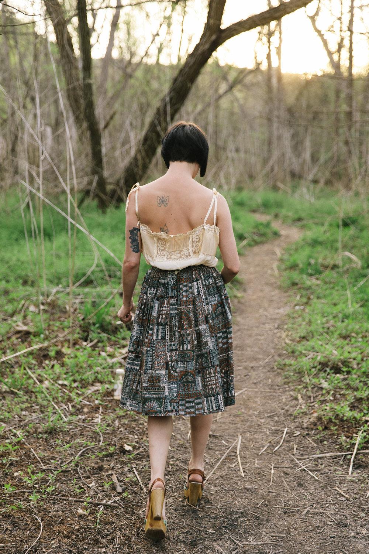 Evening strolls with Hailey Tuck. Photo by Nicole Mlakar.