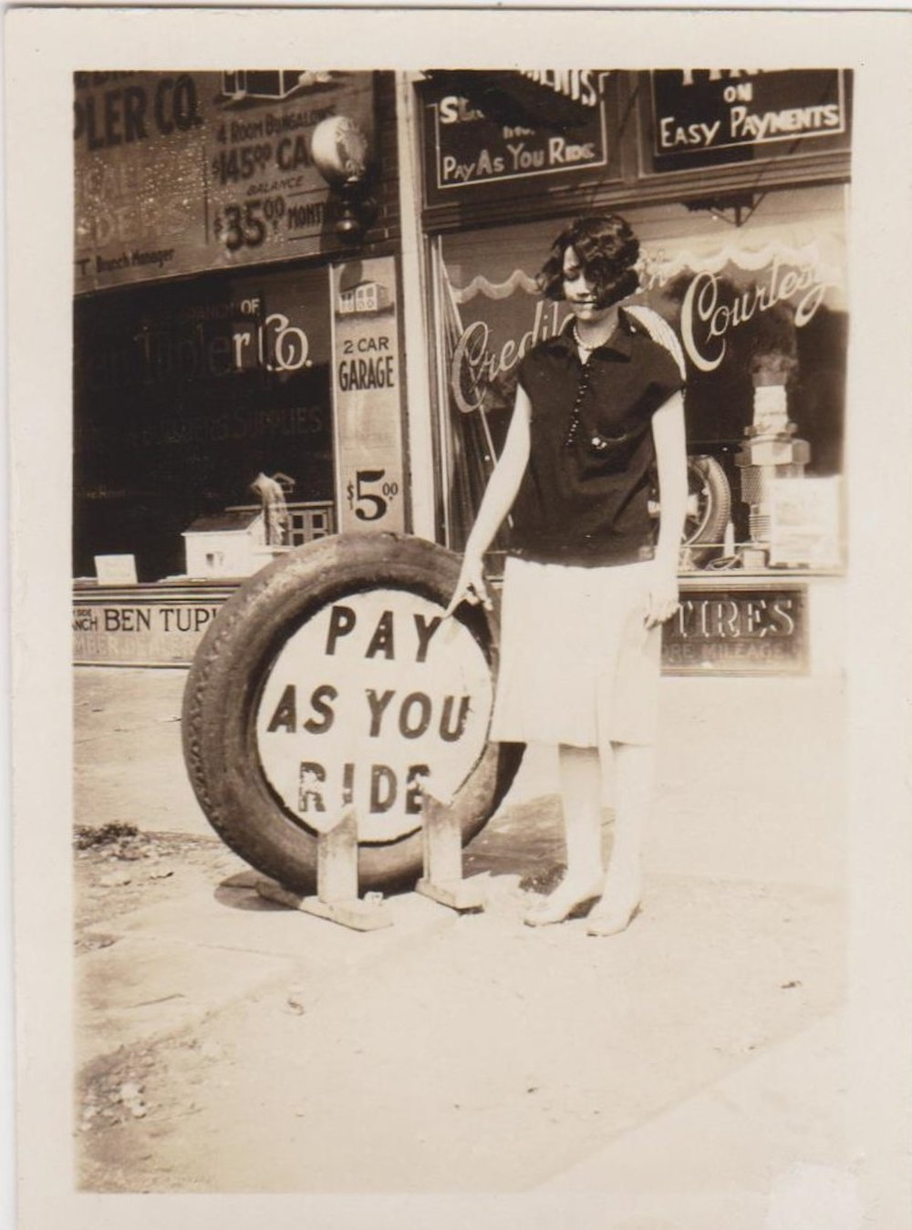 Pay as you ride! Vintage photos of women and signs.