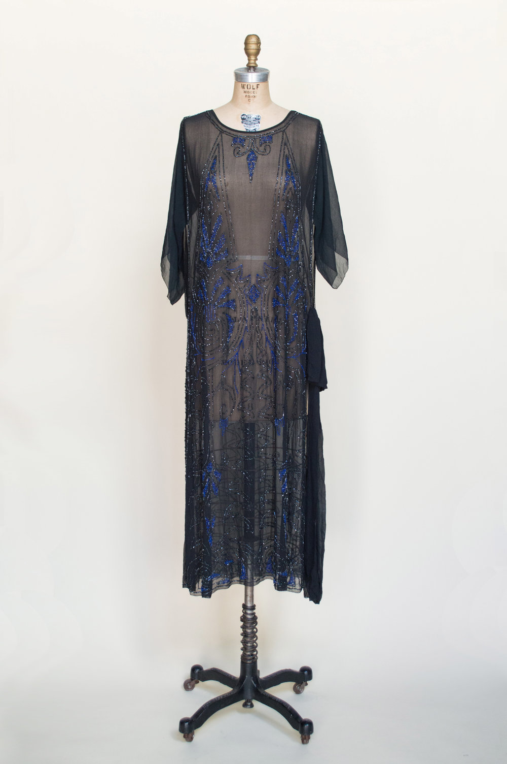 1920s Beaded Evening Dress