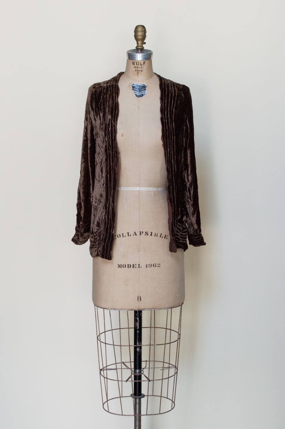 1920s Crushed Velvet Jacket