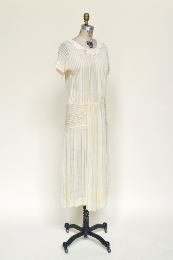 1920s Chiffon Wedding Dress