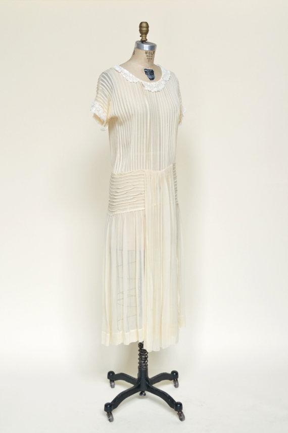 1920s Chiffon Wedding Dress