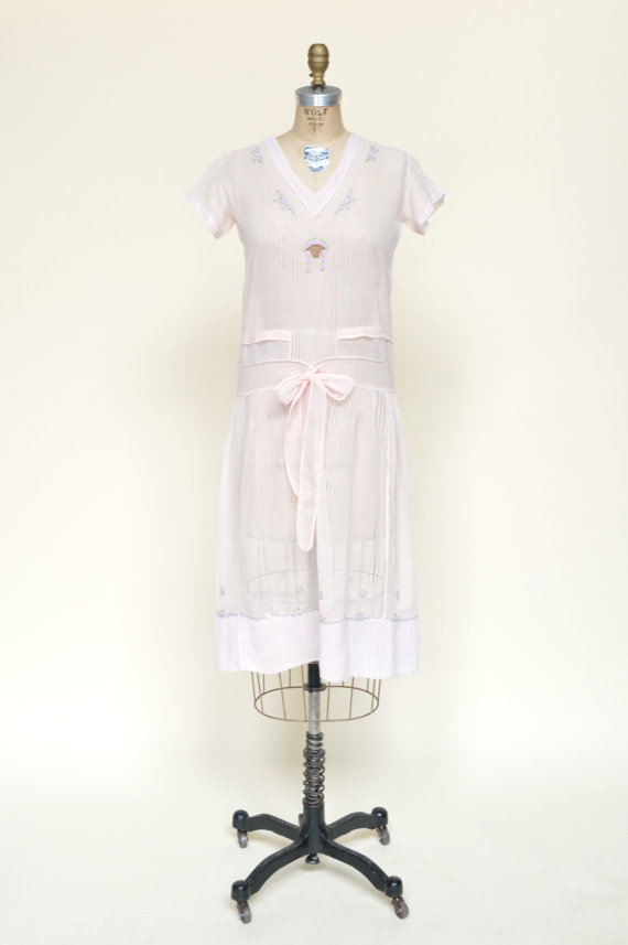 1920s B. Altman Day Dress