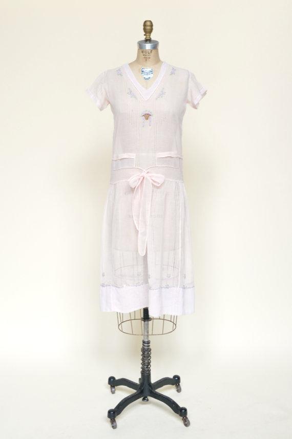 1920s B. Altman Day Dress