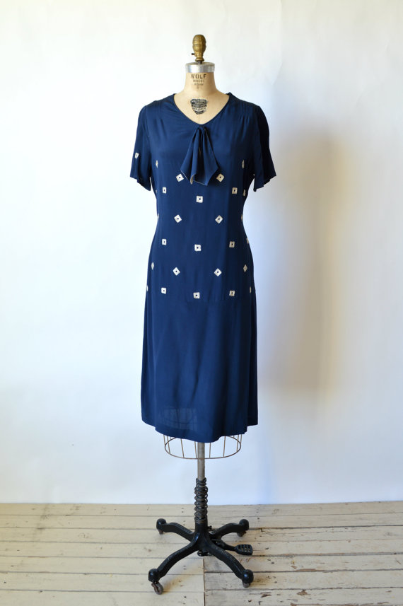 1920s Embroidered Dress