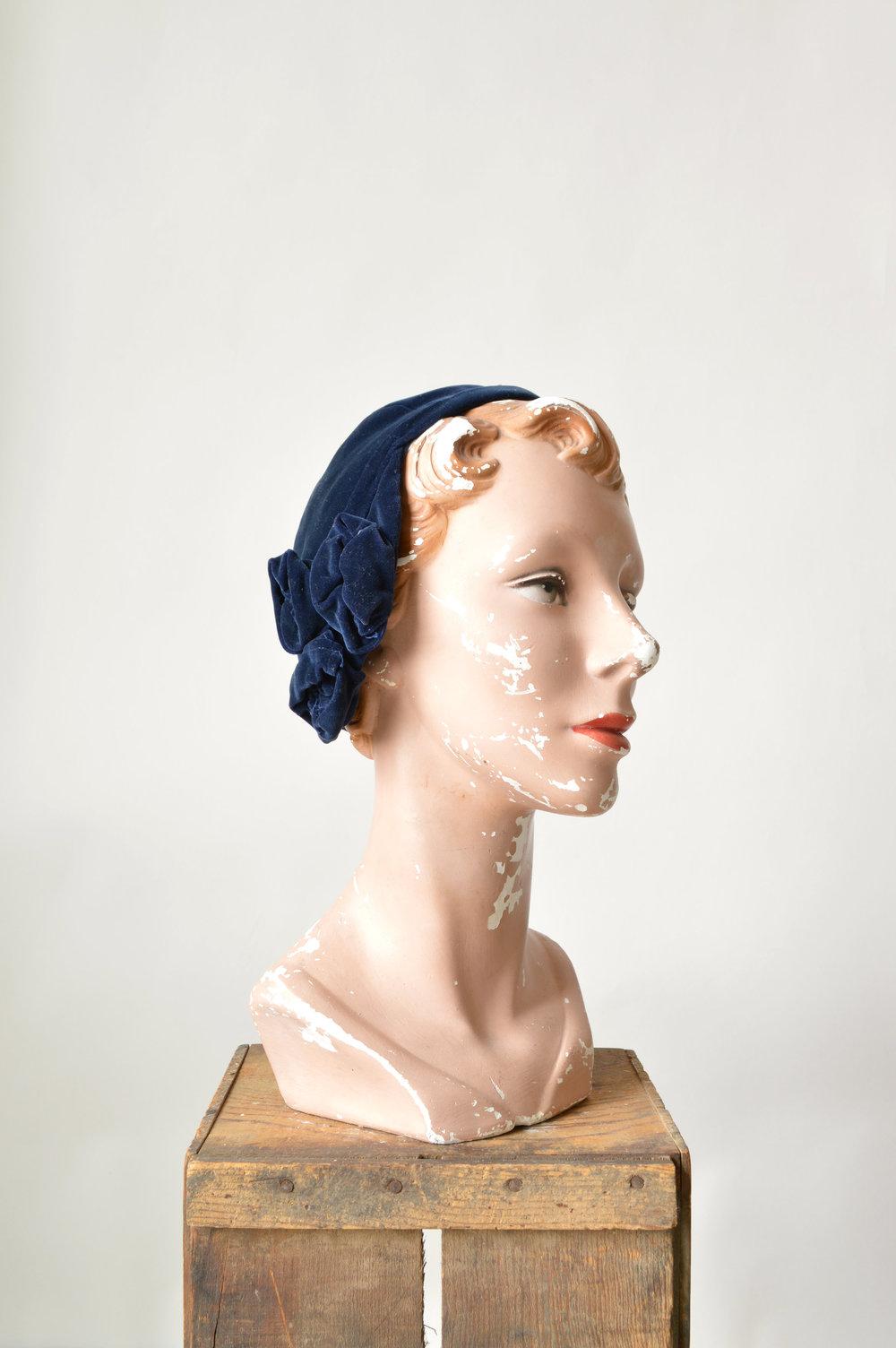 1920s Velvet Cloche